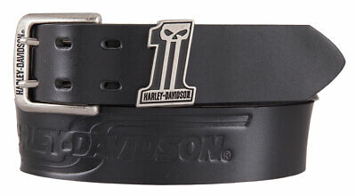 Harley-Davidson Men's Racing #1 Uno Genuine Leather Belt, Black HDMBT11512