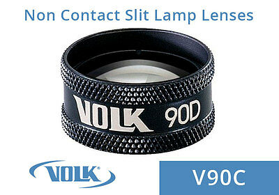 Volk 90D Clear- Black Ring With Case V90C