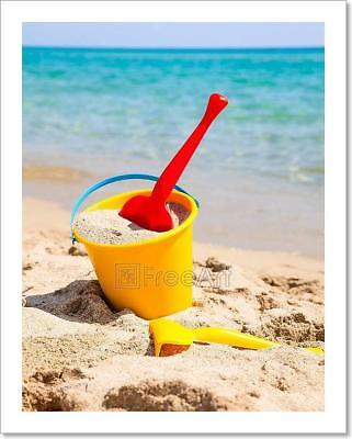Beach Bucket With Spade Art Print Home Decor Wall Art Poster - D