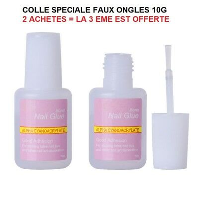 Colle  10 Grs Faux Ongle Tip Gel Uv Vernis Ong531  / Pochette Cadeau