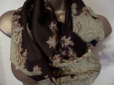 SCARF WITH MAGNETIC CLASP/FASTENER [TRIBAL  design]