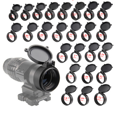1PC Rifle Sport Scope Cover Flip Up Scope Protect Cap Open Objective Lens Eye ce