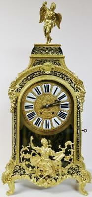 Rare XX Large Antique French Black Shell & Bronze Ormolu & Boulle Bracket Clock