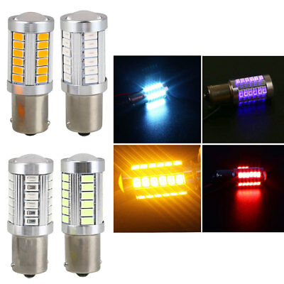Car Stop Light Turn Signal Light 33 SMD BA15S 1156 Parking Tail Durable Rear