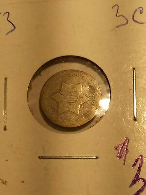 1853 silver 3 cent piece