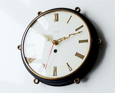 German orig KIENZLE wall clock wall retro vintage modernist old brass antique