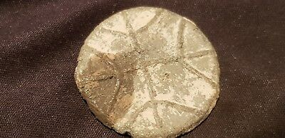 Stunning Medieval lead token with cross design  found in Uk uncleaned con. L9t