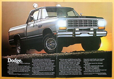 1984 Magazine Print Ad for a 1985  Dodge truck