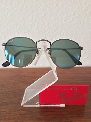 Vintage Ray Ban Bausch And Lomb Mirror blue Antique bronze Sunglasses 47mm New