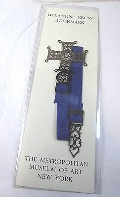Byzantine Cross Bookmark W/ Ribbon Met Museum Beautiful Ancient Christian Design