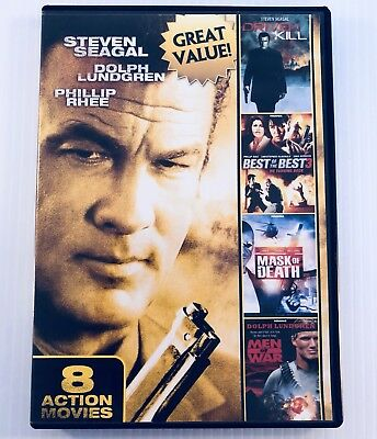 8-Film Action Pack, Vol. 3 (DVD, 2012) Steven Seagal Chuck Norris Free Shipping