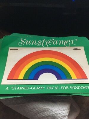 Vintage Sunstreamer Transparency Stained Glass Decal Rainbow Display
