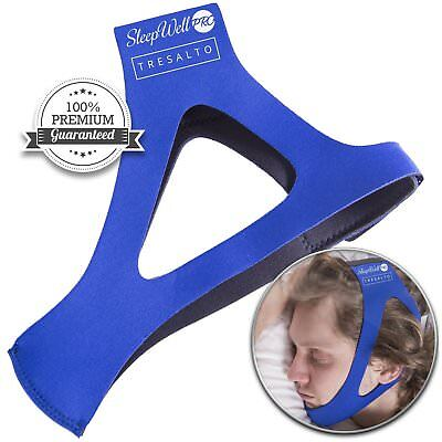 SleepWell Pro Stop Snoring CPAP Chin Strap & Anti Snore Stopper Jaw Supporter