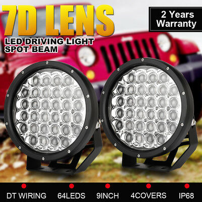 9 Inch LED Driving Lights CREE Spotlights Round Black HID Offroad 4x4 SUV Work