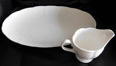 New Lenox China Butterfly Meadow Cloud Oval Serving Platter & Creamer