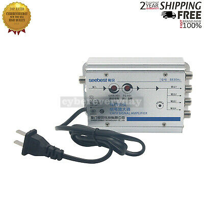 Seebest 8830H4 CATV 1-in-4 Out CATV Amplifier 30db Adjustable Cable TV Signal