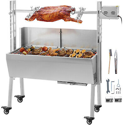 18W 132 Lbs Spit Hog Roaster BBQ Rotisserie Grill Roast Barbecue CookOut NEW