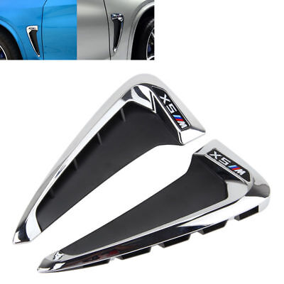 Side Wing Air Flow Fender Grill Intake Vent Trim For BMW X5 F10 2014-2018