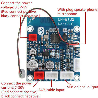LN-BT02 Smart Bluetooth 4.0 Audio Receiver Board Wireless Stereo Module for Car