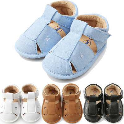 AU Stock Newborn Toddler Baby Girls Boys Leather Sandals Soft Flat Shoes Sneaker