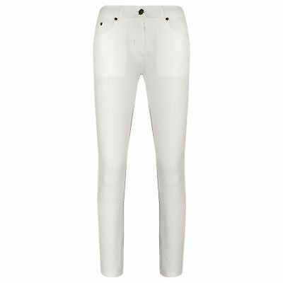 Girls Skinny Jeans Kids White Stretchy Denim Jeggings Fit Pants Trousers 5-13 Yr