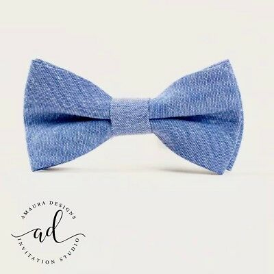 Baby Boys Handmade Bow Tie With Neck Strap 0-6yrs - 6 Colours