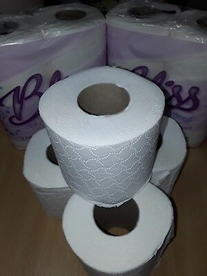 Bliss 3ply Luxury Triple Quilted Soft Toilet Tissue Toilet Paper Roll