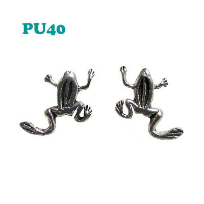 Boucle d'oreille puce grenouille argent 925 / Frog sterling silver earrings