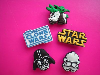 Clog Shoe Charm Button Plug Fit Holey Accessories Bands 5 Star Wars