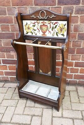 Fantastic Quality Victorian c1880 Mahogany Stick Stand - JAS James Shoolbred