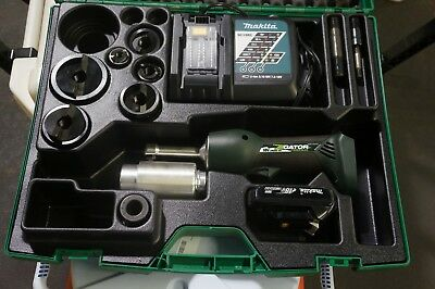 """Greenlee Gator LS50L battery hydraulic knockout Speed punch die 1/2-2"""" AWESOME"""