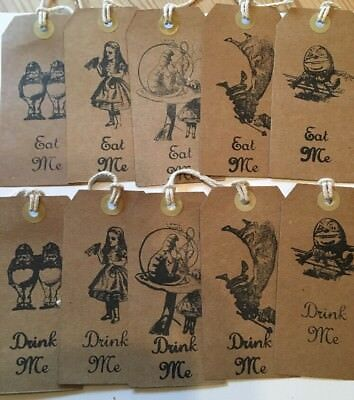 20 Alice in wonderland Open Me tags  vintage Birthday tea party Decorations
