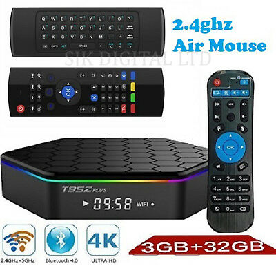 T95Z Plus 3GB/32GB TV Box & 2.4ghz Air Mouse Android 7 S912 OctaCore Dual WIFI