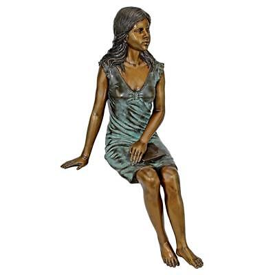 Reading Rosalind Sitting Lady Cast Bronze Garden Statue DESIGN TOSCANO bronze