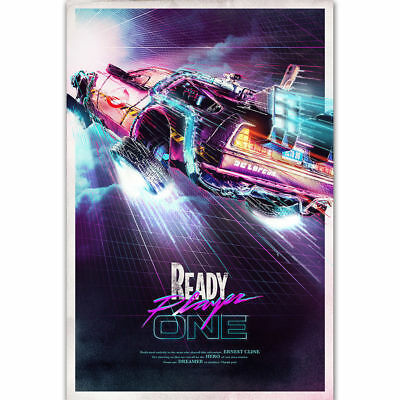 E002 Art Ready Player One Hot 2018 Back To The Future Movie Film - Wall Poster