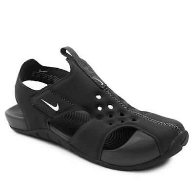 NEW 943826 001 Nike Sunray Protect 2 (Ps) Sandals !! Black white ... 6df9fc9d771