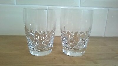 "Stunning Pair of Stuart Crystal Carlingford Water / Juice /  Tumbler  10"" high"