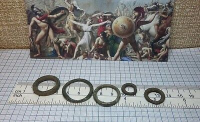 5 pcs.Perfect Ancient Celtic Bronze Ring Proto Money 600-400BC Old Pre-Coin #219