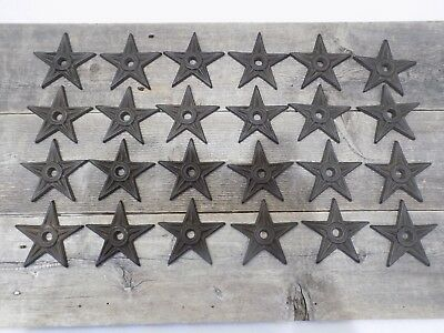 """24 Cast Iron Stars Washer Texas Lone Star Rustic Ranch 3 7/8"""" Large Primitive"""