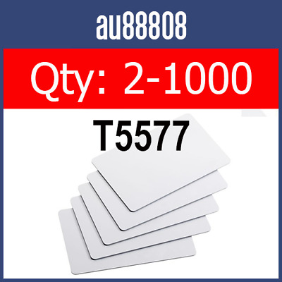 NEW T5577 125KHz LOW FREQUENCY RFID ID THIN CARD READ WRITE LF T5567 T5557 T55x7