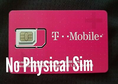 *T-Mobile SIM Card *DIGITAL* ICCIDs numbers UN-Activated No Physical Sim shipped