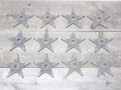 "12 Cast Iron Stars Washer Texas Lone Star Ranch 3 7/8"" Large Primitive Raw Craft"