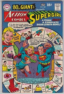 Action Comics #360 F+ 6.5 Superman Supergirl 80 Page Giant 1968!