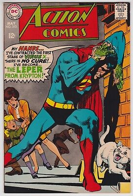 Action Comics #363 VF+ 8.5 Superman Supergirl The Leper From Krypton 1968!
