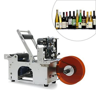 MT-50M Semi-Auto Round Bottle Labeling Machine Labeler Electric Date Printer