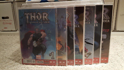 Thor God of Thunder 1 2 3 4 5 6 7  Complete Comic Lot Run Set 1st Print