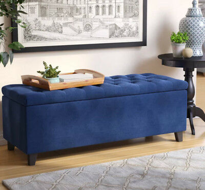 Superb Bed Bench Storage Ottoman Upholstered Tufted Flip Top Creativecarmelina Interior Chair Design Creativecarmelinacom