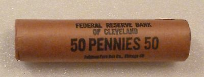 1958D Lincoln Wheat Cent Uncirculated Obw Penny Sealed Rolls Federal Reserve