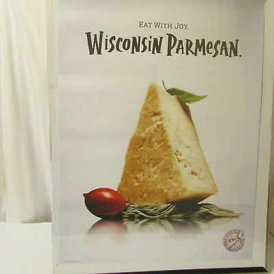 Parmesan Cheese Wisconsin Milk Dairy Agriculture Advertising Poster 2009