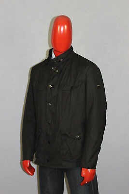 Mens Barbour International Camerton Wax Jacket Black Size Large